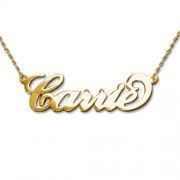 Personalized Men's Jewelry Carrie Style Personalized 14K Gold Name Necklace 101-01-071-01