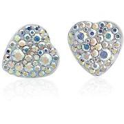 JSB Bijoux Swarovski® kristályokkal díszített szív fülbevaló (többszínű)