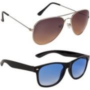 Marabous Aviator, Wayfarer Sunglasses(Black, Brown, Blue)