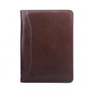 Hochwertige Leder Dokumentenmappe in Dunkelbraun - Businesstasche, Aktentasche, Dokumententasche, Laptoptasche