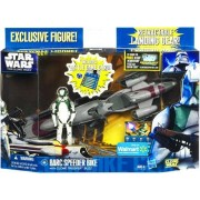 Star Wars Clone Wars 2011 Exclusive Vehicle Action Figure Pack Barc Speeder Bike with Clone Trooper Buzz
