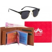 ALTON Wallet, Wrap-around Sunglass Combo(Brown)