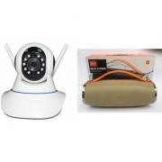 Zemini Wifi CCTV Camera and Mini Xtreme K5 Plus Bluetooth Speaker for LG OPTIMUS L5 II DUAL(Wifi CCTV Camera with night vision |Mini Xtreme K5 + Bluetooth Speaker)
