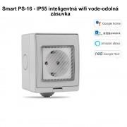 Smart PS-16 - IP55 inteligentná wifi vode-odolná zásuvka