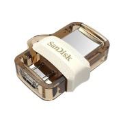 USB Flash Drive 64Gb - SanDisk Ultra Android Dual Drive OTG USB 3.0 White-Gold SDDD3-064G-G46GW