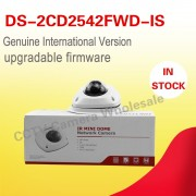 Free shipping original English version DS-2CD2542FWD-IS 4MP WDR mini dome ip camera ip67 10m IR built-in mic two-way audio
