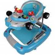 Andadera para Bebe de Lujo Mecedora Tablero Musical Racing Azul