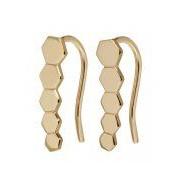 CLUSE-Oorbellen-Essentiele Hexagon Ear Climber Earrings-Goud