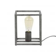 Miliboo Lampe à poser industrielle en métal finition argent ancien ARCHI