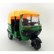 SBV Toys Bajaj Auto Rickshaw Toy Model Green - 114 Scale - Die-Cast Metal Model Toy for Kids