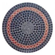 Table jardin ronde en mosaique (120 cm) - table fer forgé