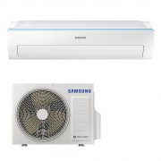 Aer conditionat Samsung Triangle AR12NXWSAURNEU, 12000 BTU, Clasa A++, Smart Wi-Fi, Easy Filter Plus, R32, Timer, Alb
