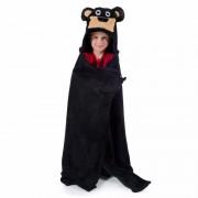 Geen Dieren knuffeldeken beer zwart 100 x 130 cm