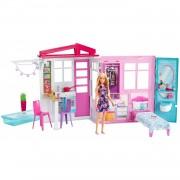 Barbie Casa Portátil Con Piscina Casa De Muñecas Mattel
