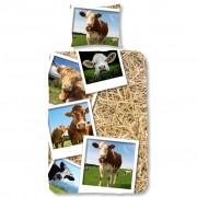 Good Morning Dekbedovertrek 5269-P COWS 140x200/220 cm meerkleurig