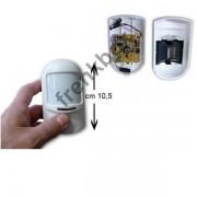 Pir Sensore volumetrico wireless 433Mhz batteria 9V Regolazione tempo di ritardo