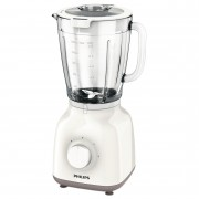 Blender de masa Philips Daily Collection HR2105/00, 400 W, 1.25 l, 2 Viteze + Impuls, Alb