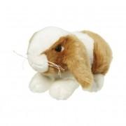 Nature Plush Planet Bruin/wit konijnenknuffeltje 18 cm