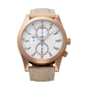 【50%OFF】CHRONOGRAPH Ⅱ VARIATION クロノデイト レザーベルト ウォッチ フェイス:ホワイト ベルト:アイボリー ファッション > 腕時計~~メンズ 腕時計