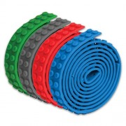 Self Adhesive Lego Like Tape Works with Building Block & Toy Block Compatible Peel and Stick Tape (4 Tape set) As Seen On TV - Turn Any Surface Into A Building Block Base