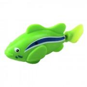 Flash ROBO flash electrico Pet Fish juguete - verde + azul + blanco