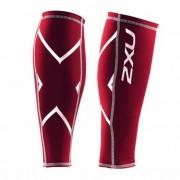 2XU Unisex Non Stirrup Calf Guard Performance Wear Red UA1987B