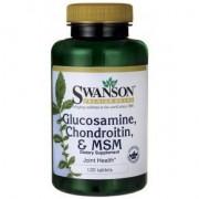 Swanson Glükozamin Kondroitin MSM - 120db tabletta