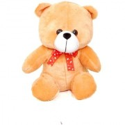 stuffed toy with tie cute and soft brown teddy 25 cm brown