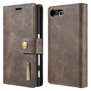Sony Xperia X Compact Dg.Ming 2-in-1 Wallet Case - Coffee