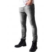 pantaloni URBAN CLASSICS - Slim Fit Biker - TB1436_grey