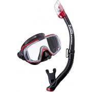 Visio Tri-EX UC-3125 Metallic Red - zestaw maska + fajka + GRATIS