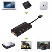 Adaptador 4-em-1 HDMI / DVI, VGA, 3.5mm Áudio - Preto