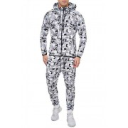 OneRedox Jogging Suit Sport Set Tracksuit Pants & Hoodie Sweater Camo White 713C 52011-1
