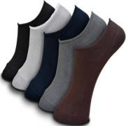 Virtue Solid Print Multicolor Loafer Cotton Socks For Mens (PACK-5)