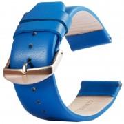 Kakapi voor Apple Watch 38mm subtiele textuur geborsteld gesp lederen horlogeband alleen gebruikt in combinatie met Connectors (S-AW-3291)(Blue)