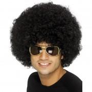 Smiffys Zwarte afropruik Seventies feest