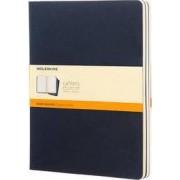 Moleskine Ruled Cahier Xl - Blue Cover (3 Set) by Moleskine