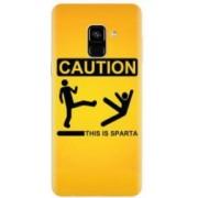 Husa silicon pentru Samsung Galaxy A8 Plus This Is Sparta Funny Illustration