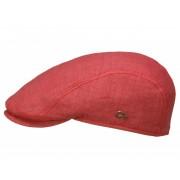 Göttmann Jackson Schirmmütze mit UV-Schutz aus Leinen, Rot (60) 59 cm
