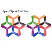 Generic e : 12 Pairs 3045 (6 color ) 3 blades Leaf Blade Prop Propeller CW /CCW for FPV Mini 130mm Quadcopter ZMR210 QAV250