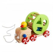 ELECTROPRIME Wooden Duck Pull along Toy Walking Toys Baby/Toddler/Child Wood Learning Toy
