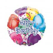 Balon folie metalizata Happy Birthday Balloons 43 cm