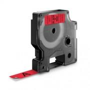 Dymo D1 DY45017 laminált feliratozószalag 12mm fekete/piros