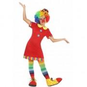 Fiesta carnavales Clown Floppy verkleedjurk voor meisjes 116 (5-6 jaar) - Carnavalsjurken