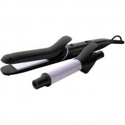 Set de coafat multifunctional StyleCare BHH811/00, placa de par, ondulator, tehnologie OneClick, 5 accesorii, 200 grade, negru