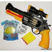 Conqueror 3 in 1 Powerful Featured Kids (Soft + Crystal + Music ) Bullet Toy Gun