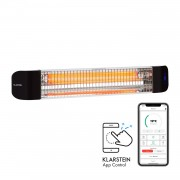 Klarstein Smartwave, infravörös hősugárzó, karbon cső, 2400 W, WiFi, alkalmazás, fehér (ACO7-Smartwave- WH)