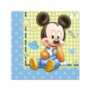 20 guardanapos de papel Bébé Mickey