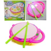 Parteet Musical Flash Drum with Flashing Lights and 2 Sticks for Kids