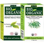 Organic Neem Hair Regrowth Treatment dandruff Herbal Henna Powder Pack Of 2